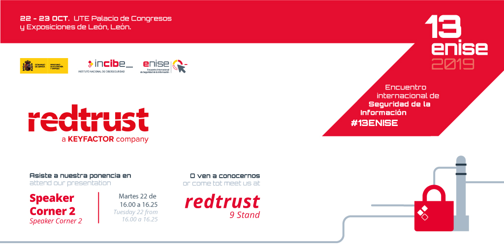 Visita Redtrust los próximos 22 y 23 de octubre en 13ENISE